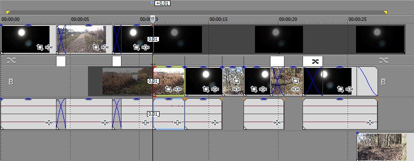 Sony Vegas Pro 13: 'Kaputte' Timeline