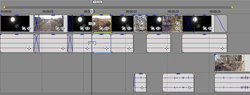 Sony Vegas Pro 13: Normale Timeline