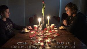 Kamera-Vergleich Low Light: Romeo und Julia, Sony AX33 vs CX240