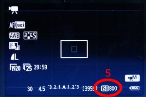 EOS 600D: ISO-Wert im Display