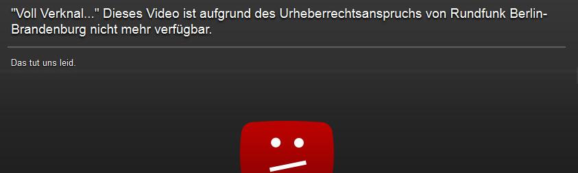 Voll Verknallt war in Youtube nicht mehr aufrufbar