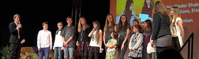 vv3 kifinale: Das Team auf der Bühne