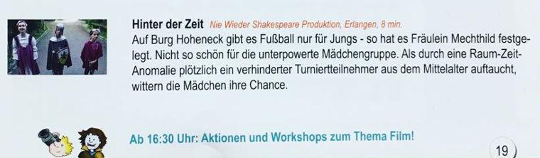 Programmankündigung KiFiFe 2017 - Hinter der Zeit