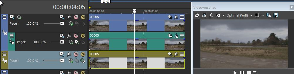 Compositing für den Video Clip