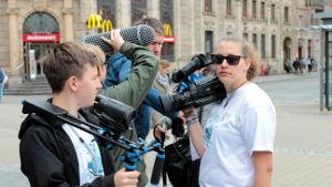 Das unbequem-Filmteam zur Bundestagswahl auf dem Hugo in Erlangen